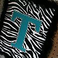 Monogram Zebra Canvas