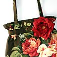 Rosey Tote with RED flower