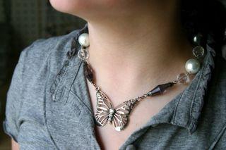 Butterfly necklace on Sara_resize
