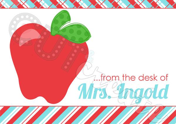 Teacher name card