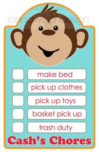 Monkey chores_etsy