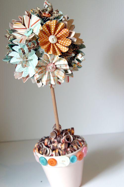 Crafty stuff paper flower topiary paper flower topiary mightylinksfo