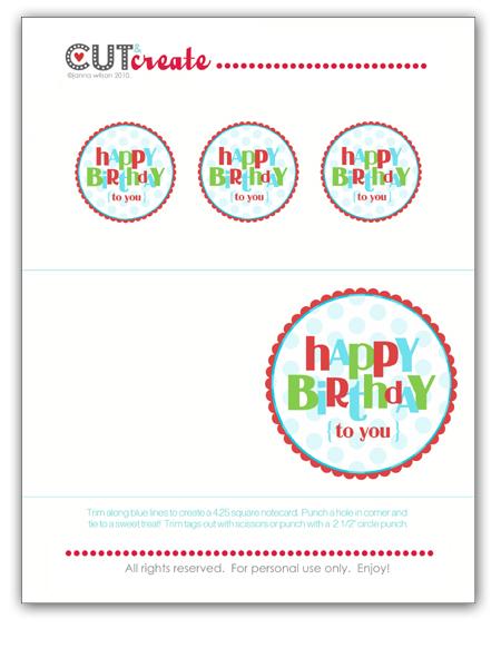 Graphic Design Portfolio Birthday Card And Tags Printable Freebie