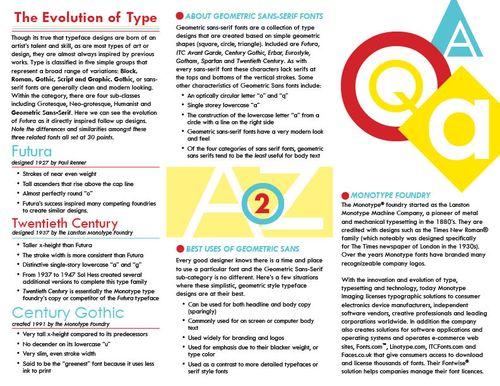 Graphic design Portfolio-->: Brochure (2)- Geometric Sans Serif