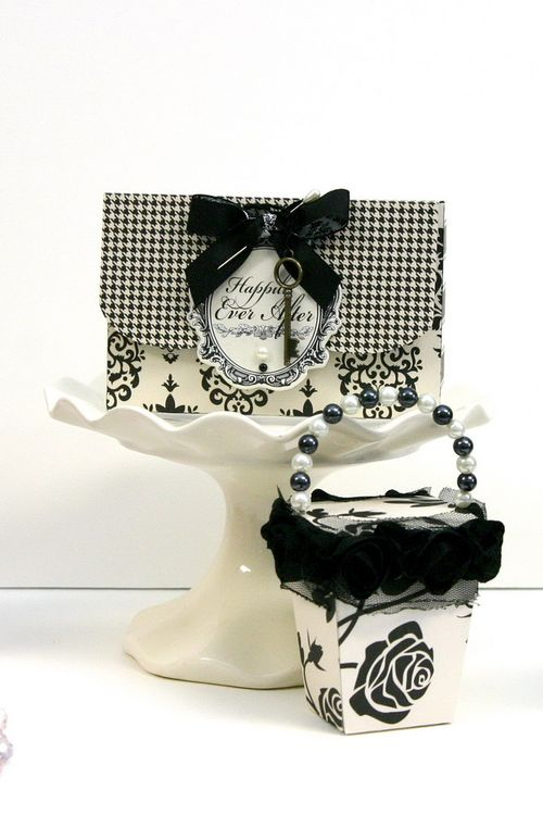 Gift box and Mini Take Out Box samples- wedding favors