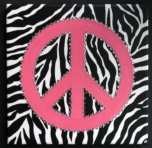 Zebra Peace Canvas